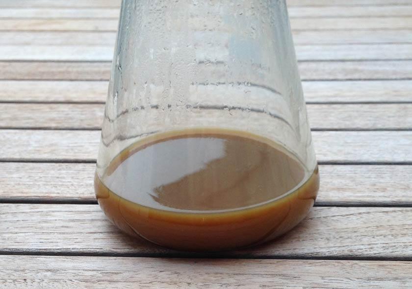Vanilleextrakt nach dem Filtern