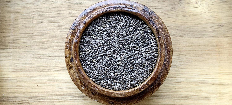 Chiasamen, aus denen Chiasamenöl gepresst wird