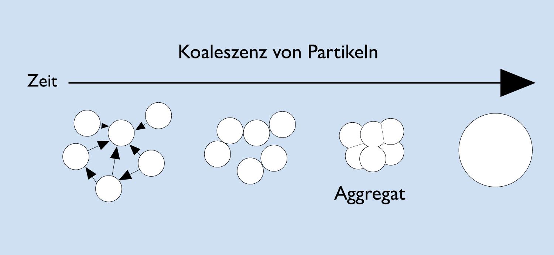 Grafik: Phasen der Koaleszenz