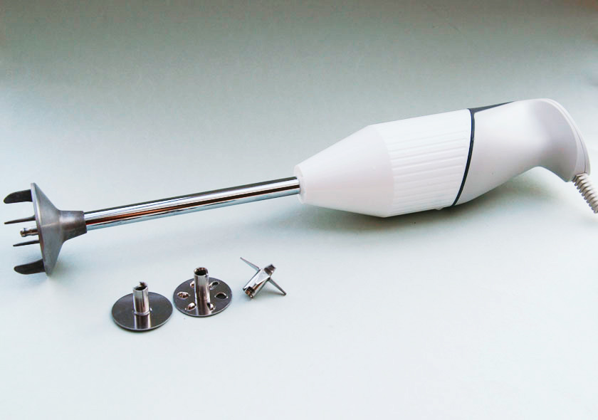 Stabmixer ESGE Zauberstab mit Schlagscheibe, Quirlscheibe, Multimesser (von links)